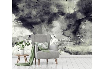 3D Black & White Ink 023 Wall Murals Wallpaper Murals Woven paper (need glue), XXXL 416cm x 254cm (WxH)(164''x100'')