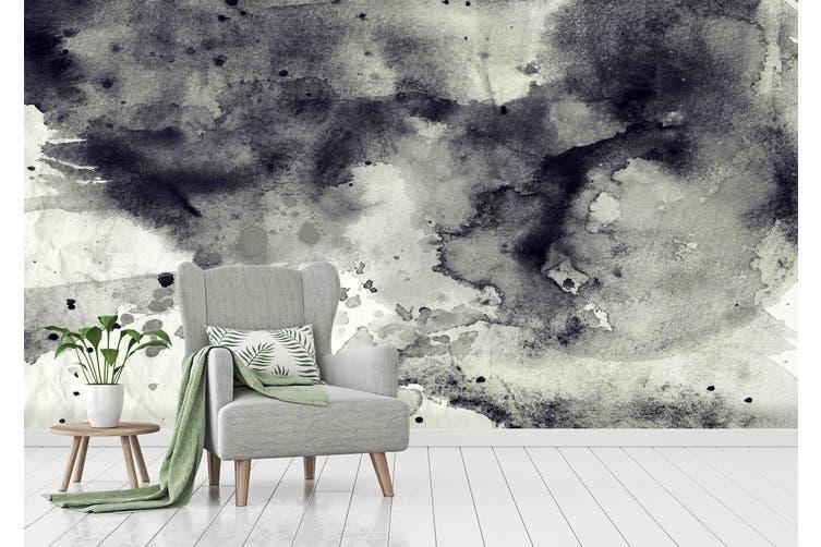 3D Black & White Ink 023 Wall Murals Wallpaper Murals Woven paper (need glue), XXXXL 520cm x 290cm (WxH)(205''x114'')