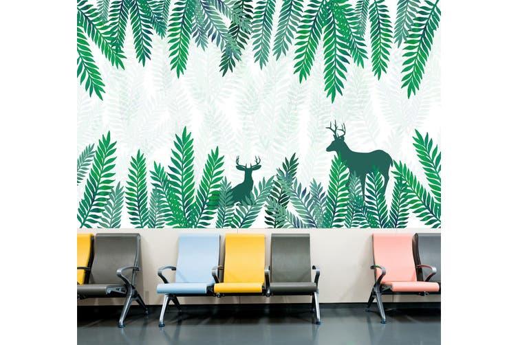 3D Leaf Deer Shadow 342 Wall Murals Wallpaper Murals Self-adhesive Vinyl, XL 208cm x 146cm (WxH)(82''x58'')