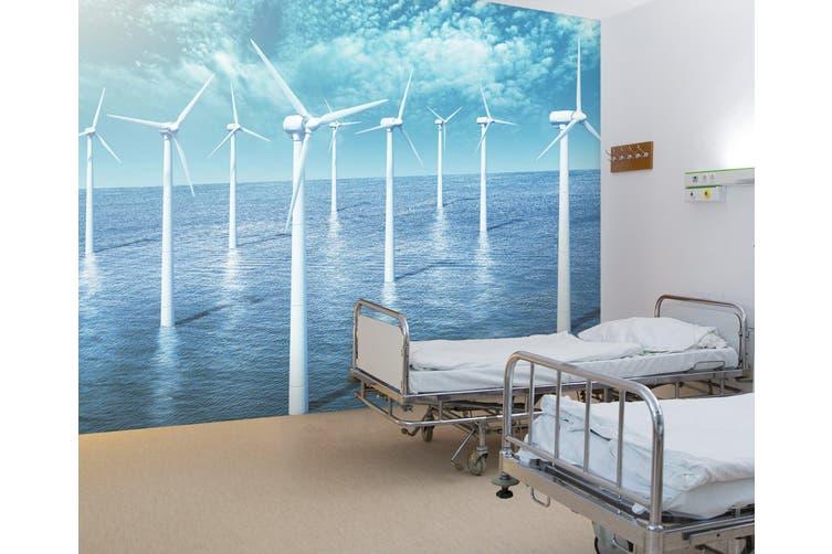 3D White Windmill 341 Wall Murals Wallpaper Murals Self-adhesive Vinyl, XL 208cm x 146cm (WxH)(82''x58'')