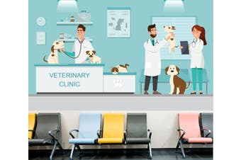 3D Veterinary Dog 335 Wall Murals Wallpaper Murals Self-adhesive Vinyl, XXXXL 520cm x 290cm (WxH)(205''x114'')