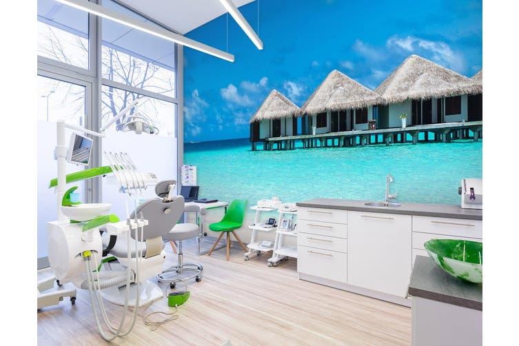 3D Azure Seascape 329 Wall Murals Wallpaper Murals Woven paper (need glue), XXXXL 520cm x 290cm (WxH)(205''x114'')