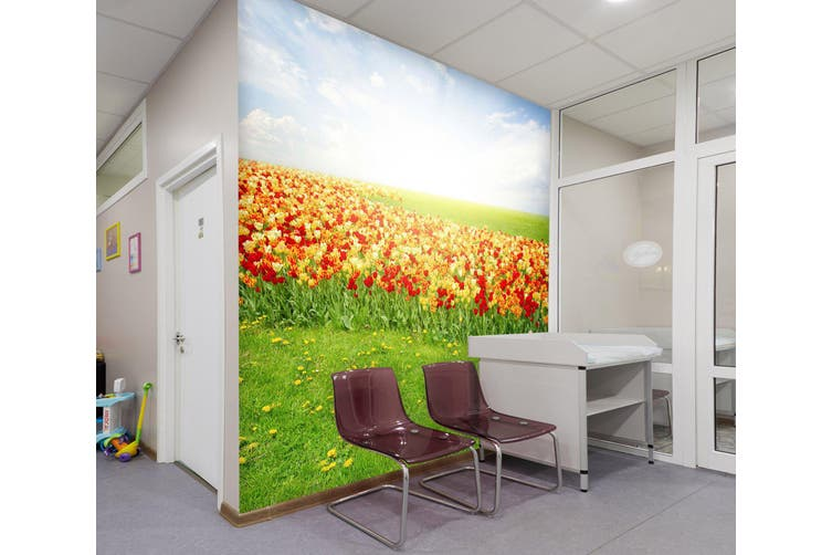 3D Bright Flower Sea 328 Wall Murals Wallpaper Murals Woven paper (need glue), XXL 312cm x 219cm (WxH)(123''x87'')