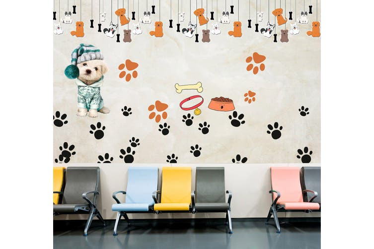 3D Dog Pendant 323 Wall Murals Wallpaper Murals Woven paper (need glue), XL 208cm x 146cm (WxH)(82''x58'')
