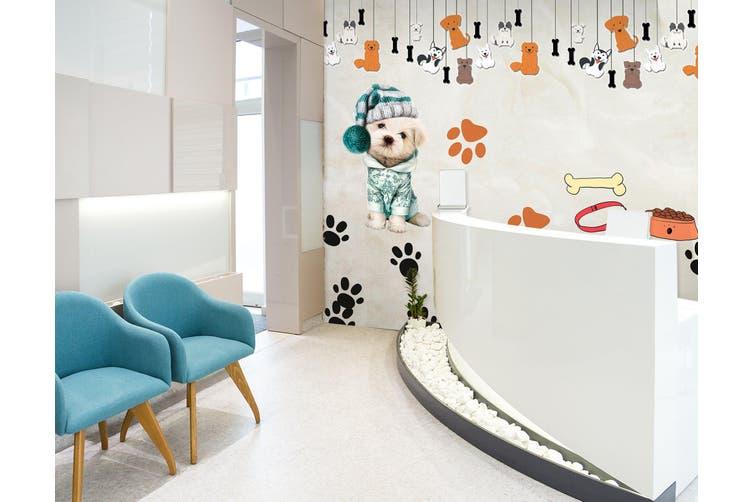 3D Dog Pendant 323 Wall Murals Wallpaper Murals Woven paper (need glue), XXXL 416cm x 254cm (WxH)(164''x100'')