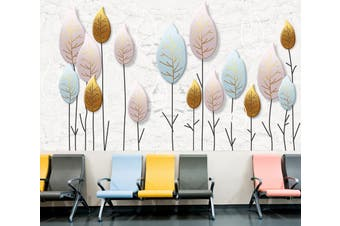 3D Colored Leaves 322 Wall Murals Wallpaper Murals Self-adhesive Vinyl, XXL 312cm x 219cm (WxH)(123''x87'')