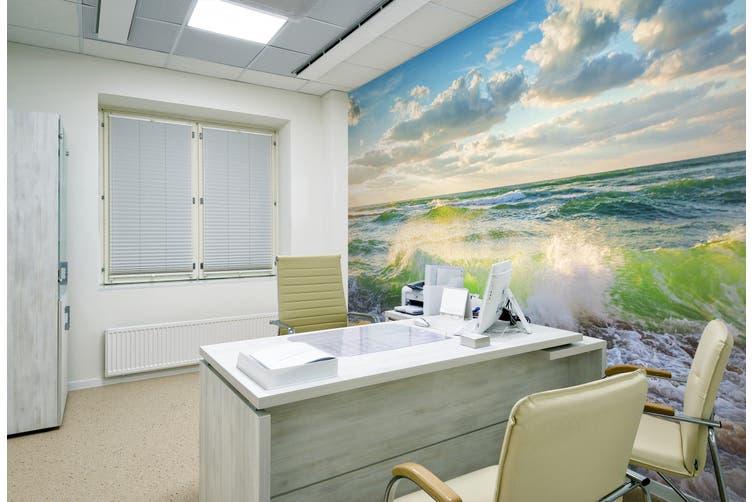 3D Sky Green Surf 317 Wall Murals Wallpaper Murals Woven paper (need glue), XL 208cm x 146cm (WxH)(82''x58'')