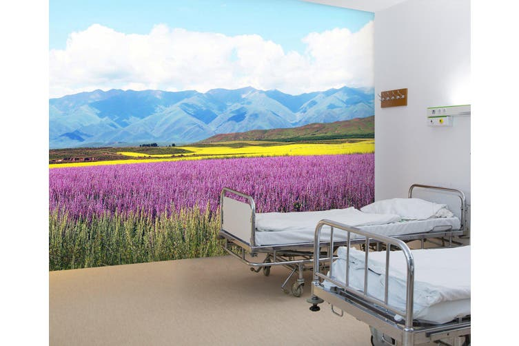 3D Mountain Lavender 315 Wall Murals Wallpaper Murals Self-adhesive Vinyl, XXXXL 520cm x 290cm (WxH)(205''x114'')