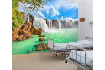 3D Fierce Waterfall 304 Wall Murals Wallpaper Murals Woven paper (need glue), XXXL 416cm x 254cm (WxH)(164''x100'')