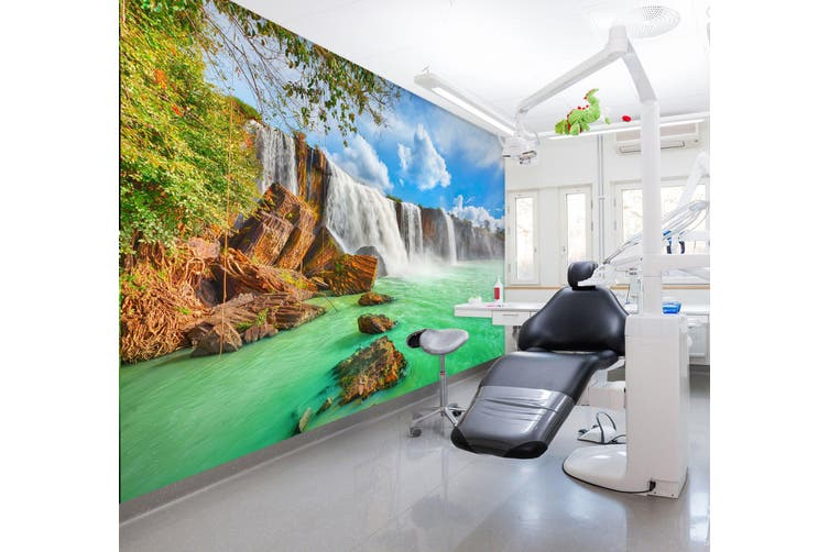 3D Fierce Waterfall 304 Wall Murals Wallpaper Murals Self-adhesive Vinyl, XXL 312cm x 219cm (WxH)(123''x87'')