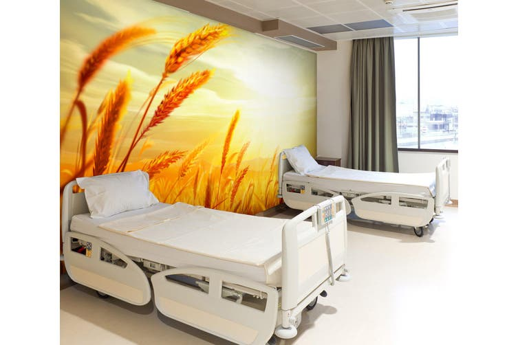 3D Sunset Wheat 303 Wall Murals Wallpaper Murals Woven paper (need glue), XL 208cm x 146cm (WxH)(82''x58'')