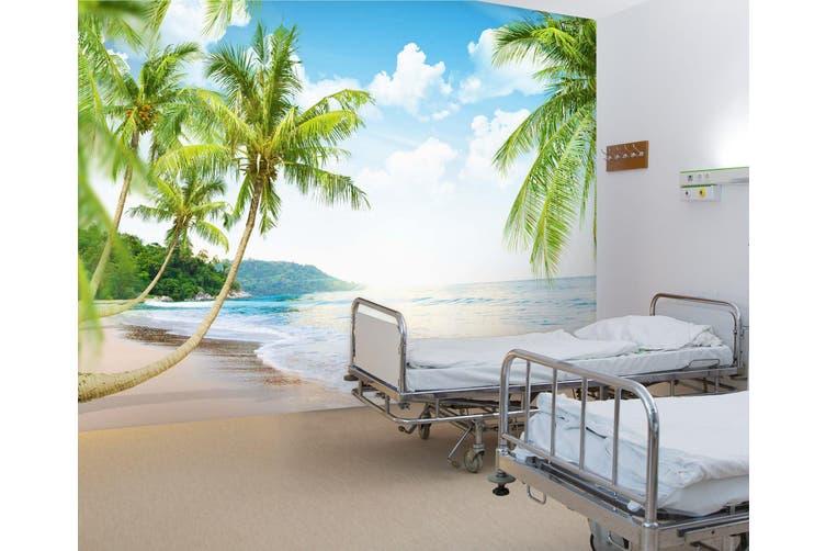 3D Beach Coconut Tree 302 Wall Murals Wallpaper Murals Woven paper (need glue), XXXL 416cm x 254cm (WxH)(164''x100'')