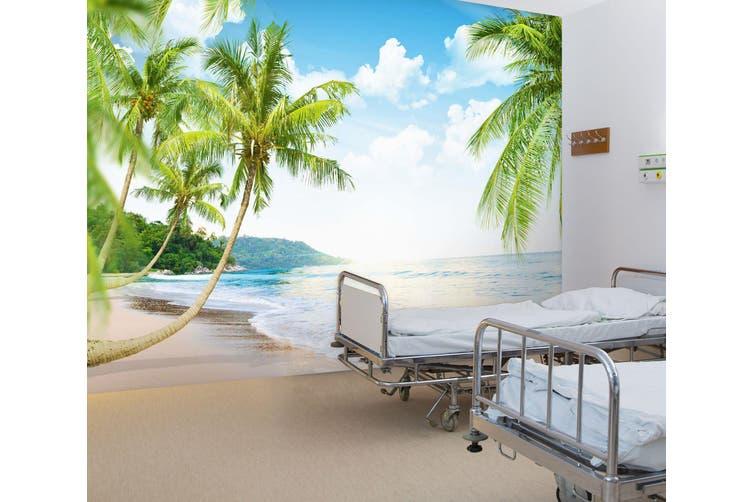 3D Beach Coconut Tree 302 Wall Murals Wallpaper Murals Woven paper (need glue), XXXXL 520cm x 290cm (WxH)(205''x114'')