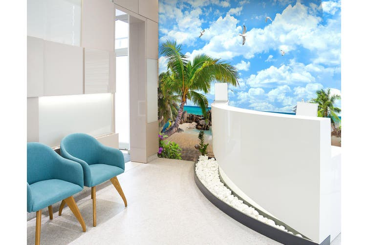 3D Beach Starfish 298 Wall Murals Wallpaper Murals Woven paper (need glue), XL 208cm x 146cm (WxH)(82''x58'')