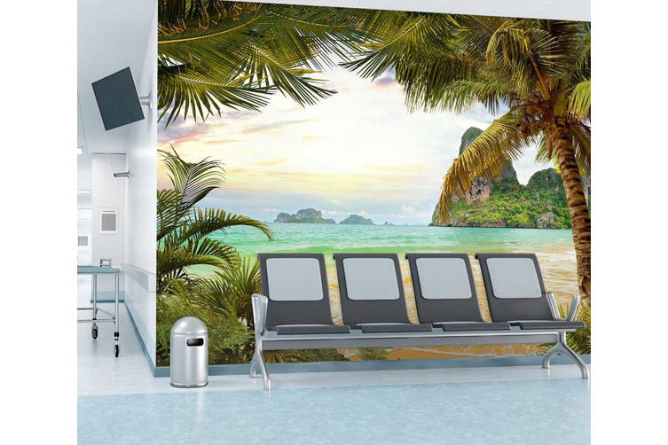 3D Coconut Tree 297 Wall Murals Wallpaper Murals Woven paper (need glue), XXL 312cm x 219cm (WxH)(123''x87'')