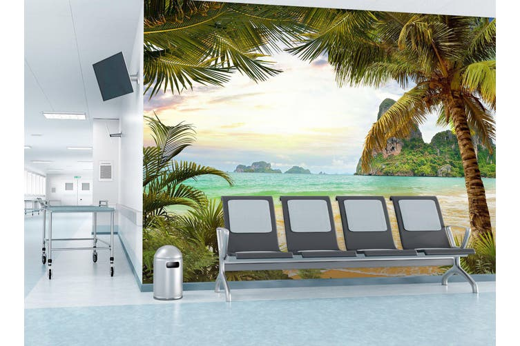 3D Coconut Tree 297 Wall Murals Wallpaper Murals Self-adhesive Vinyl, XXL 312cm x 219cm (WxH)(123''x87'')