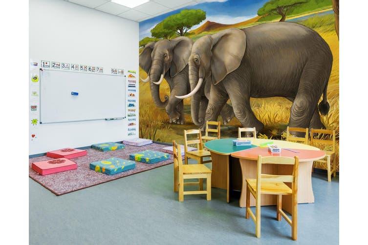 3D Steppe Elephant 293 Wall Murals Wallpaper Murals Self-adhesive Vinyl, XXXXL 520cm x 290cm (WxH)(205''x114'')