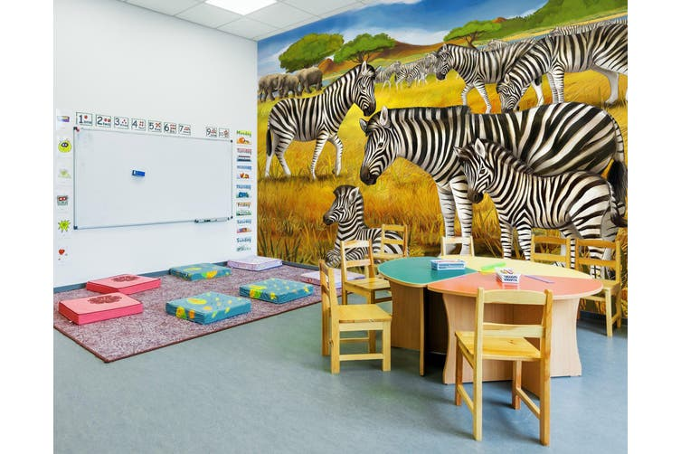 3D Grassland Zebra 292 Wall Murals Wallpaper Murals Self-adhesive Vinyl, XL 208cm x 146cm (WxH)(82''x58'')