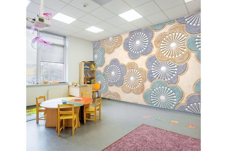 3D Flower Pattern 291 Wall Murals Wallpaper Murals Woven paper (need glue), XXXXL 520cm x 290cm (WxH)(205''x114'')