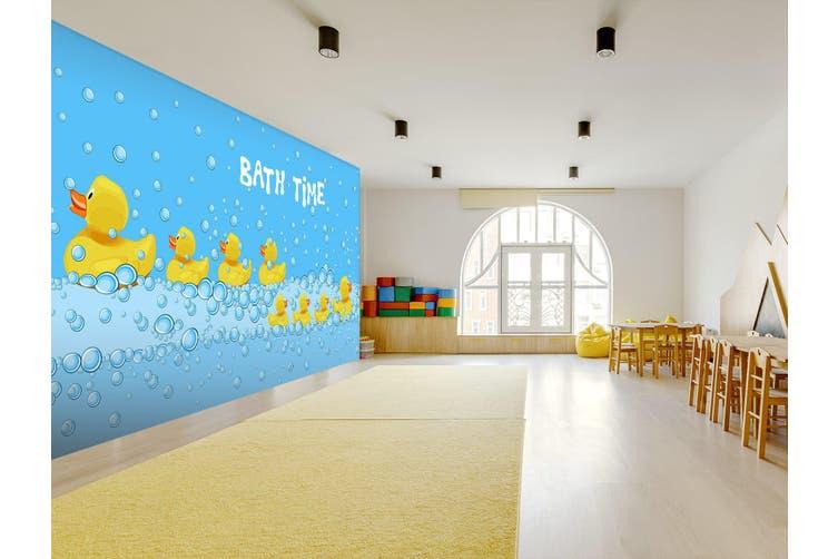 3D Bubble Duck 289 Wall Murals Wallpaper Murals Woven paper (need glue), XXXL 416cm x 254cm (WxH)(164''x100'')