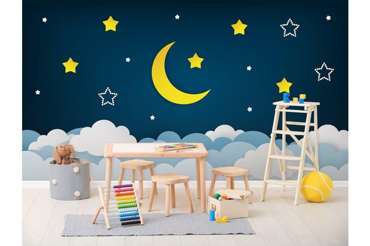3D Moon Star Cloud 285 Wall Murals Wallpaper Murals Self-adhesive Vinyl, XXXL 416cm x 254cm (WxH)(164''x100'')