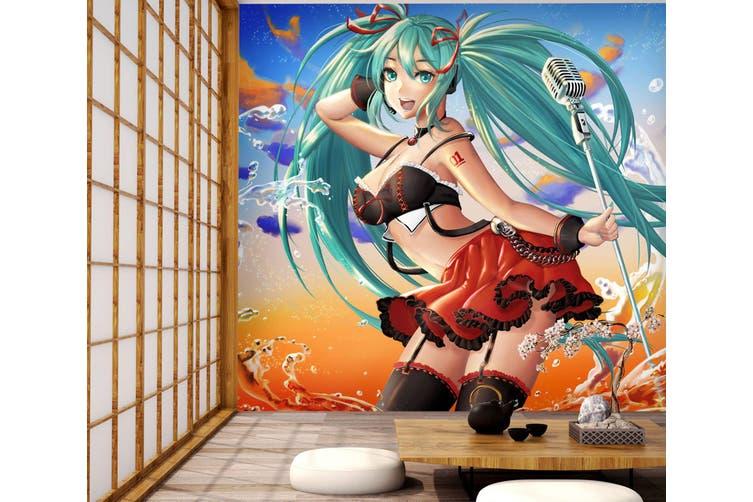 3D Hatsune Miku 768 Anime Wall Murals Self-adhesive Vinyl, XXL 312cm x 219cm (WxH)(123''x87'')