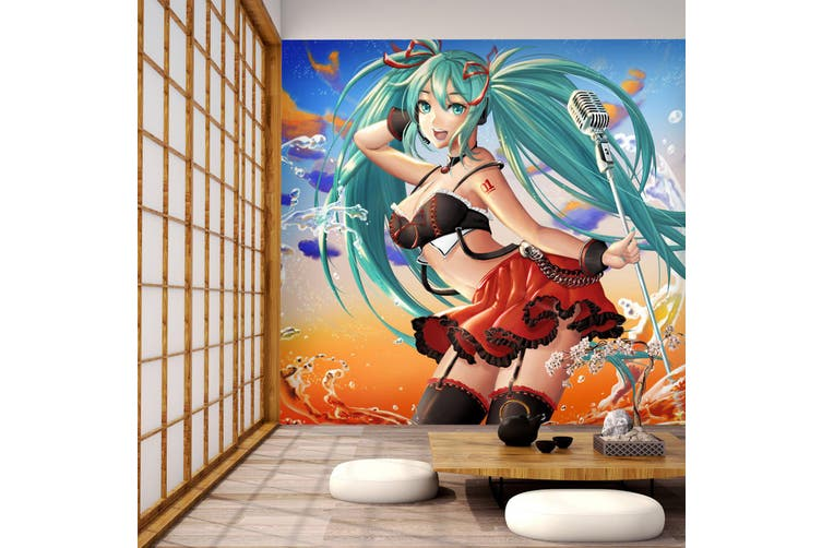 3D Hatsune Miku 768 Anime Wall Murals Self-adhesive Vinyl, XXXXL 520cm x 290cm (WxH)(205''x114'')