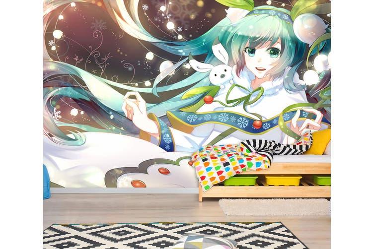 3D Hatsune Miku 762 Anime Wall Murals Woven paper (need glue), XXL 312cm x 219cm (WxH)(123''x87'')