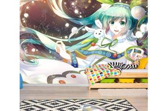 3D Hatsune Miku 762 Anime Wall Murals Self-adhesive Vinyl, XXL 312cm x 219cm (WxH)(123''x87'')