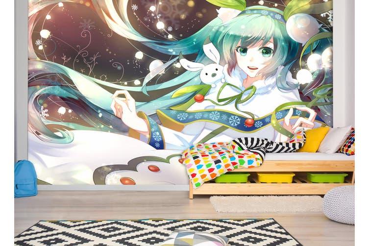 3D Hatsune Miku 762 Anime Wall Murals Self-adhesive Vinyl, XXXXL 520cm x 290cm (WxH)(205''x114'')