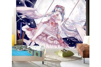 3D Hatsune Miku 759 Anime Wall Murals Woven paper (need glue), XXL 312cm x 219cm (WxH)(123''x87'')