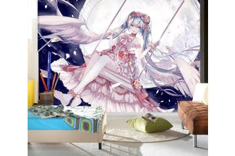 3D Hatsune Miku 759 Anime Wall Murals Woven paper (need glue), XXXL 416cm x 254cm (WxH)(164''x100'')