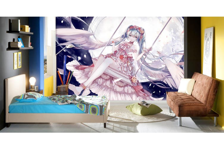 3D Hatsune Miku 759 Anime Wall Murals Self-adhesive Vinyl, XXXXL 520cm x 290cm (WxH)(205''x114'')