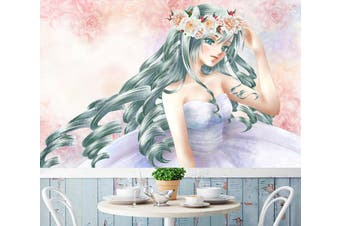 3D Hatsune Miku 758 Anime Wall Murals Woven paper (need glue), XXL 312cm x 219cm (WxH)(123''x87'')