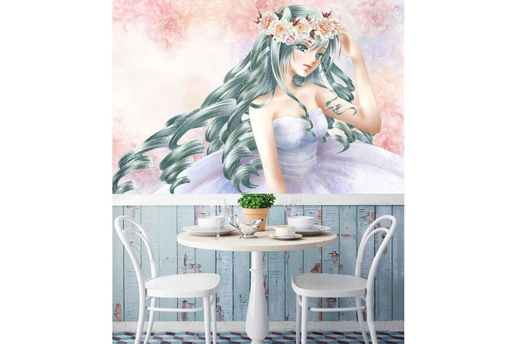 3D Hatsune Miku 758 Anime Wall Murals Woven paper (need glue), XXXL 416cm x 254cm (WxH)(164''x100'')