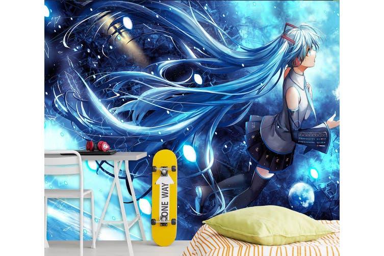 3D Hatsune Miku 761 Anime Wall Murals Woven paper (need glue), XXXL 416cm x 254cm (WxH)(164''x100'')