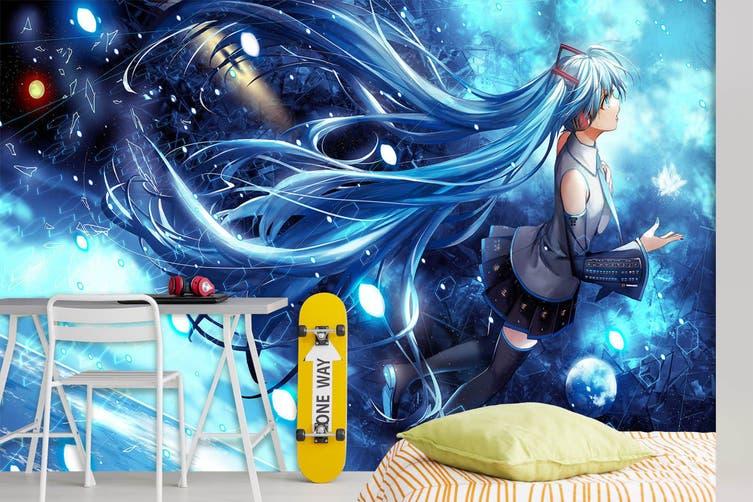 3D Hatsune Miku 761 Anime Wall Murals Self-adhesive Vinyl, XXL 312cm x 219cm (WxH)(123''x87'')