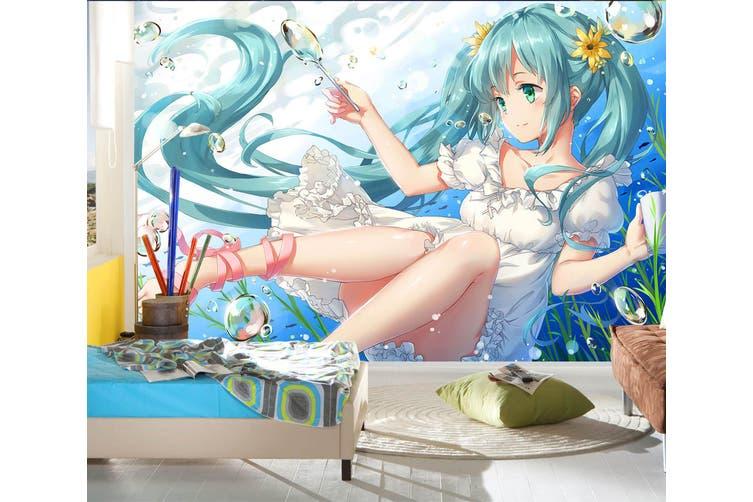 3D Hatsune Miku 760 Anime Wall Murals Woven paper (need glue), XXXXL 520cm x 290cm (WxH)(205''x114'')