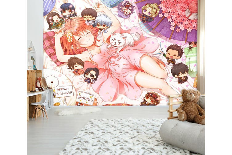 3D GinTama 747 Anime Wall Murals Woven paper (need glue), XL 208cm x 146cm (WxH)(82''x58'')