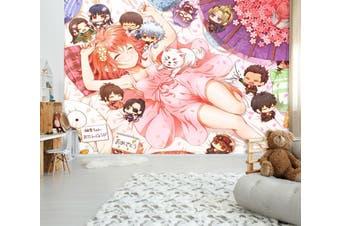 3D GinTama 747 Anime Wall Murals Self-adhesive Vinyl, XXXL 416cm x 254cm (WxH)(164''x100'')