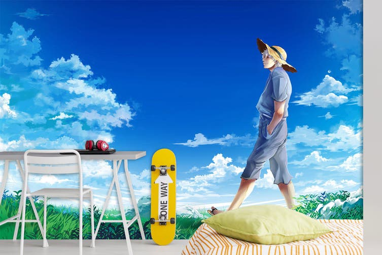 3D GinTama 745 Anime Wall Murals Woven paper (need glue), XXXXL 520cm x 290cm (WxH)(205''x114'')