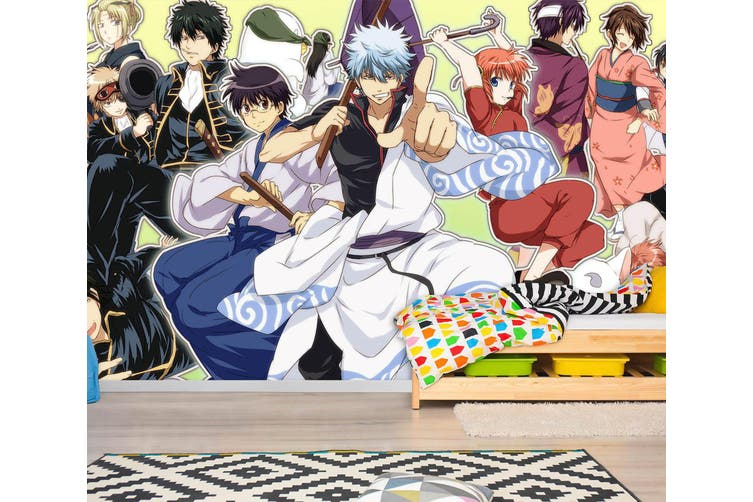 3D GinTama 743 Anime Wall Murals Woven paper (need glue), XL 208cm x 146cm (WxH)(82''x58'')