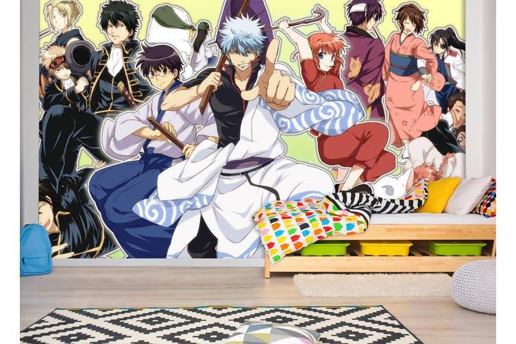 3D GinTama 743 Anime Wall Murals Woven paper (need glue), XXXL 416cm x 254cm (WxH)(164''x100'')