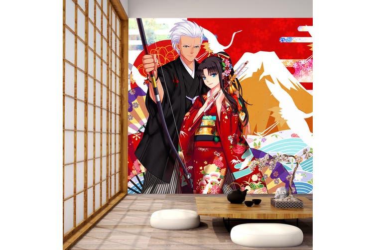 3D Fate Stay Night 741 Anime Wall Murals Self-adhesive Vinyl, XL 208cm x 146cm (WxH)(82''x58'')