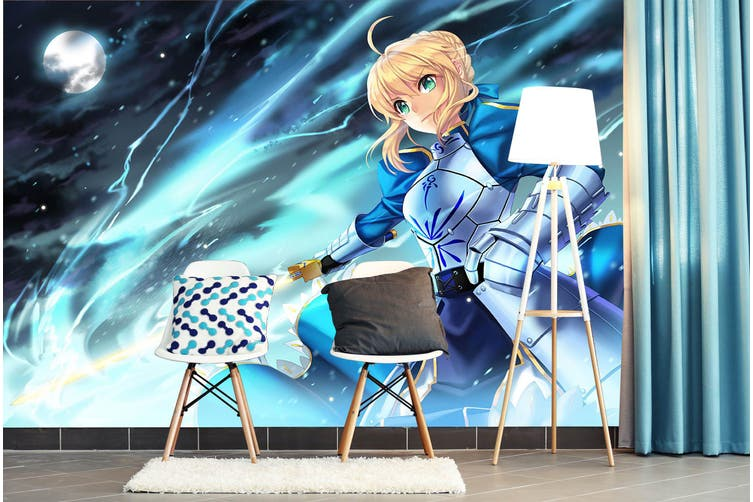 3D Fate Stay Night 739 Anime Wall Murals Self-adhesive Vinyl, XL 208cm x 146cm (WxH)(82''x58'')