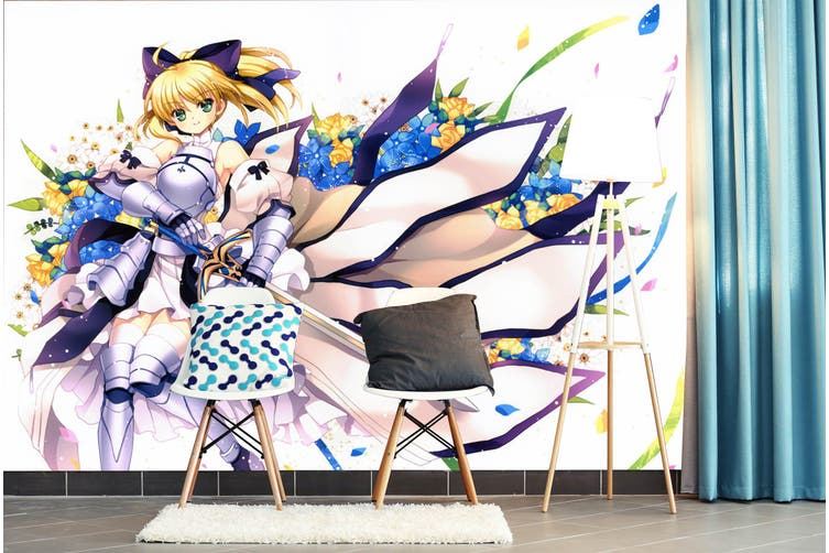 3D Fate Stay Night 734 Anime Wall Murals Woven paper (need glue), XL 208cm x 146cm (WxH)(82''x58'')