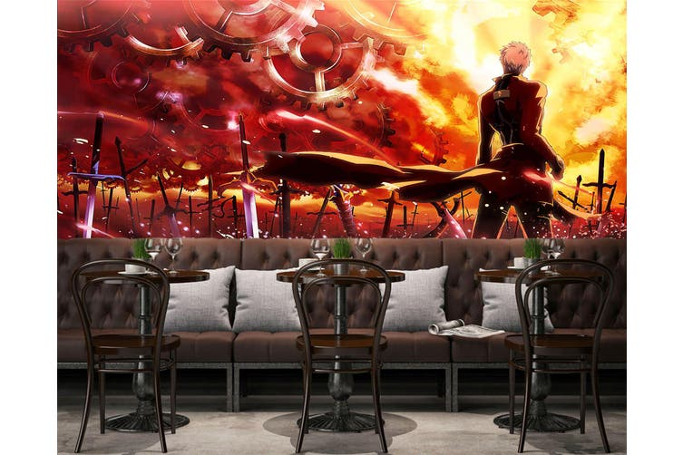 3D Fate Stay Night 733 Anime Wall Murals Woven paper (need glue), XL 208cm x 146cm (WxH)(82''x58'')