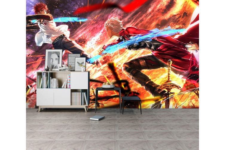 3D Fate Stay Night 722 Anime Wall Murals Woven paper (need glue), XL 208cm x 146cm (WxH)(82''x58'')