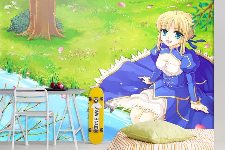 3D Fate Stay Night 718 Anime Wall Murals Woven paper (need glue), XXXXL 520cm x 290cm (WxH)(205''x114'')