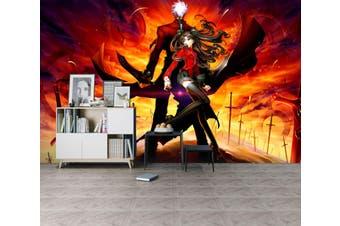 3D Fate Stay Night 717 Anime Wall Murals Woven paper (need glue), XXL 312cm x 219cm (WxH)(123''x87'')